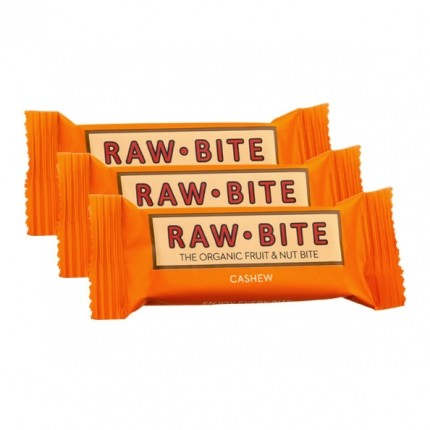 Raw Food, Raw Bite noix de cajou, lot de 12, barres