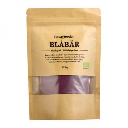 Raw Powder Blåbärspulver (frystorkad), 125, eko