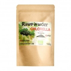 Raw Powder Chlorella pulver, 150 g, eko