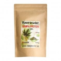 Raw Powder Hampa Protein 50%, 500 g, eko