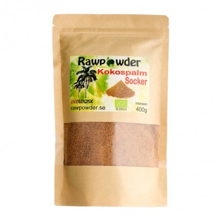 Raw Powder Kokospalmsocker, 400 g, eko