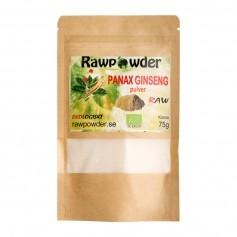 Raw Powder Ginseng pulver Panax, 75 g, eko