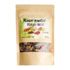 Raw Powder Raw-Mix (tranbär,goji,mullbär,inca,nibs,pumpafrö)