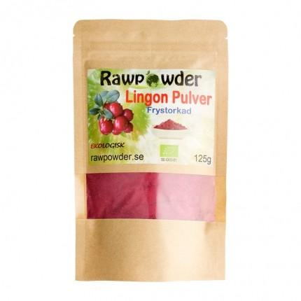 Raw Powder Lingon pulver (frystorkad), 125 g, eko