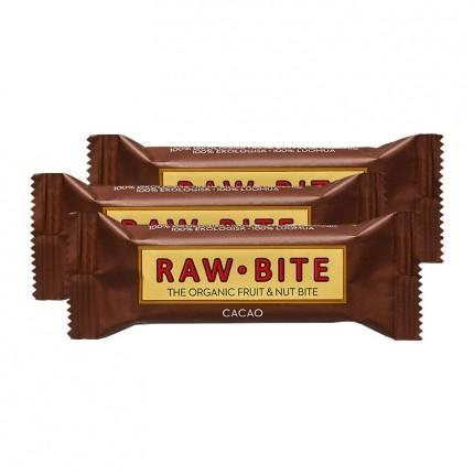 3 x Raw Food Raw Bite Kakao, Riegel