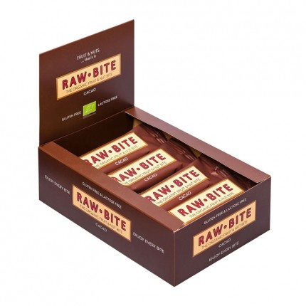 Rawbite Bio Riegel, Kakao (12 x 50 g)