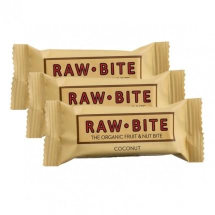 3 x Rawbite Coconut, Riegel