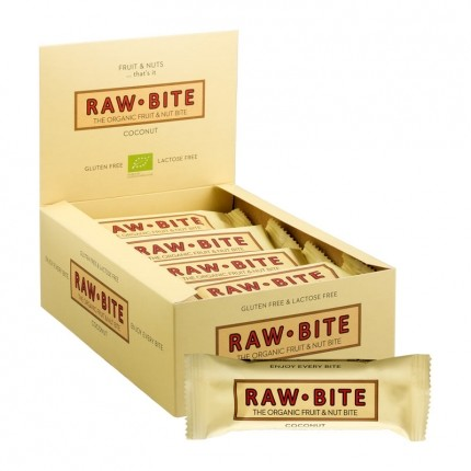 12 x Raw Food Raw Bite Coconut, bar