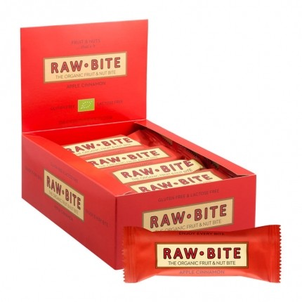 12 x Raw Food Raw Bite Eple & Kanel, bar