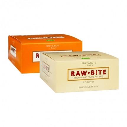 Raw Bite Pakke: 12 x Cashew & 12 x Kokos Barer