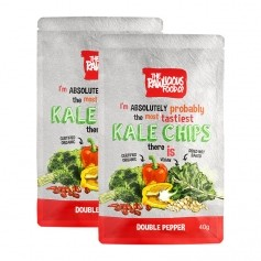 2 x Rawlicious Kale Chips Double Pepper Twist