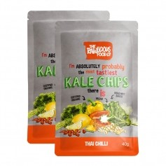 2 x Rawlicious Kale Chips Thai Chilli Twist