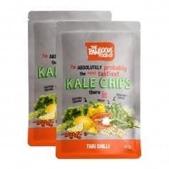 Rawlicious, Kale Chips 'Thai Chilli Twist', lot de 2
