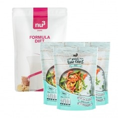 Régime Low-carb: nu3, Formula Diet + 3 x Riz low-carb