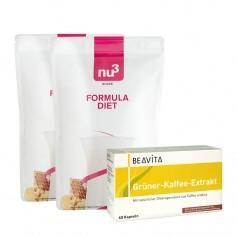 Régime Naturel Vert: 2 x nu3, Formula Diet + BEAVITA Extrait de café vert