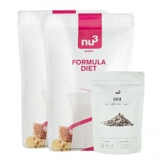 Régime Superfood: 2 x nu3, Formula Diet + nu3 Graines de chia