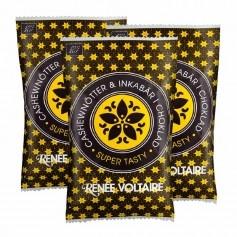 3x Renée Voltaire Cashewnötter & Inkabär i Choklad