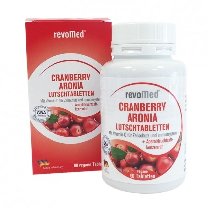 revoMed Cranberry Aronia Lutschtabletten mit Acerola
