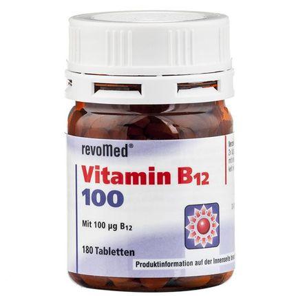 Comprimés de vitamine B12 de 100 µg revoMed