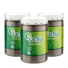 3 x Sachia Chia Samen, schwarz