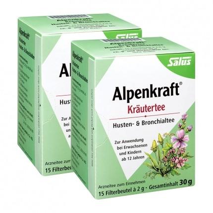 Salus Alpenkraft Kräutertee Husten- & Bronchialtee (2 x 30 g)