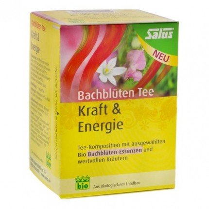 Salus Bio Bachblüten Tee Kraft & Energie, Filterbeutel