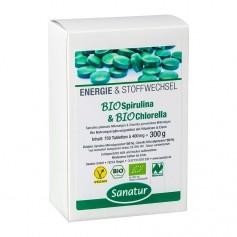 Sanatur Ekologisk Spirulina & Chlorella, tabletter