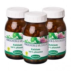 3 x Sanatur Kalzium, Kapseln