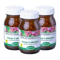 3 x Sanatur Omega-3 pflanzlich, Kapseln