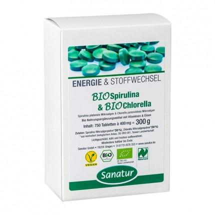 Sanatur Bio Spirulina und Chlorella, Tabletten