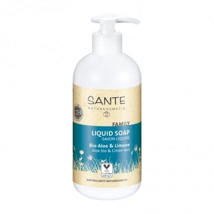 Santé Family Flüssigseife Bio-Aloe & Lemon Doppelpack