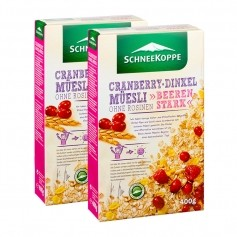 2 x Schneekoppe Cranberry Dinkel Müesli