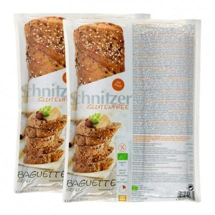 2 x Schnitzer Bio-Baguette Grainy