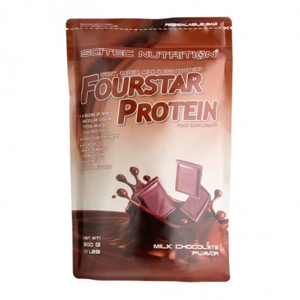 Scitec Fourstar Protein Milchschoko, Pulver