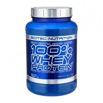 Scitec 100% Whey Protein Pianøttsmør, pulver