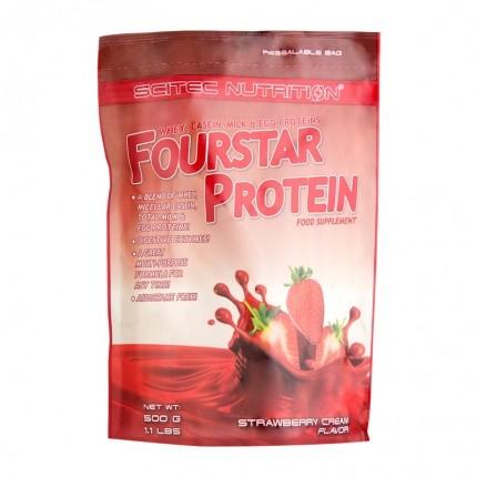 Scitec Nutrition Fourstar Protein, Erdbeere-Sahne, Pulver