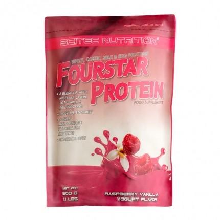 Scitec Nutrition Fourstar Protein, Himbeere-Vanille-Joghurt, Pulver
