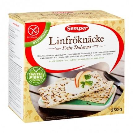 Semper linfrø-knekkebrød