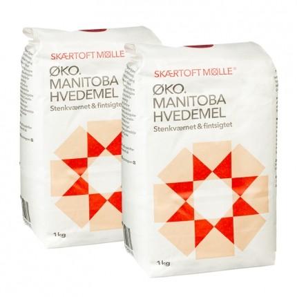 2 x Skærtoft Mølle Økologisk Manitoba Hvedemel Fint
