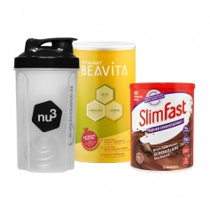 SlimFast Milkshake chocolat + BEAVITA Vitalkost + Shaker