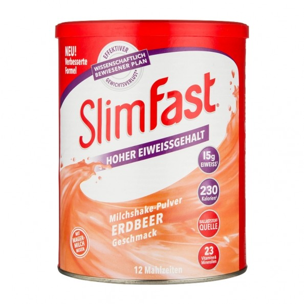SlimFast Poudre de Milkshake Fraise- nu3