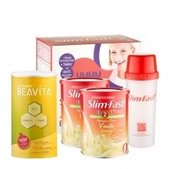 SlimFast, Starter-Pack Vanille + BEAVITA Vitalkost