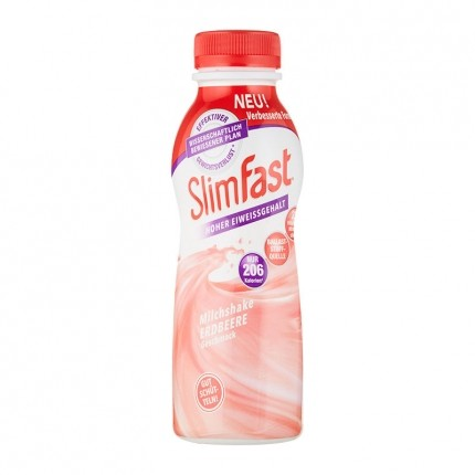 3 x SlimFast Milchshake Erdbeere