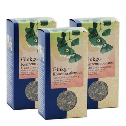 3 x Sonnentor Ginkgo-Konzentrationstee