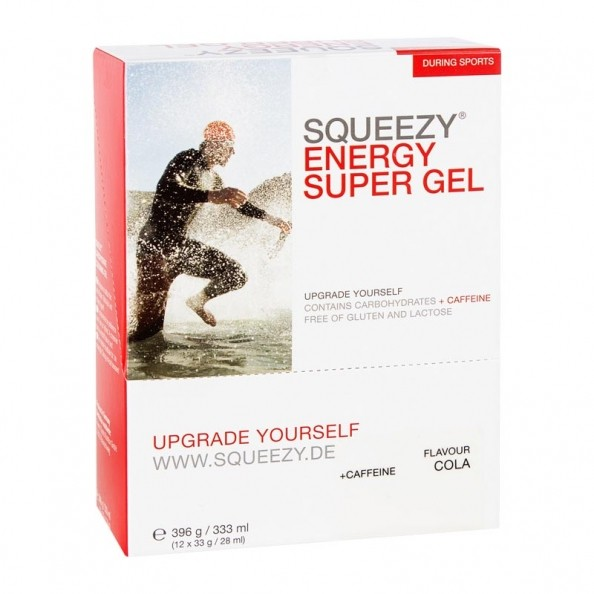 Squeezy Energy Super Gel Box Cola Koffein 12x33 G