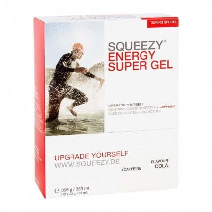 Squeezy Energy Super Gel Box, Cola-Koffein (12 ...