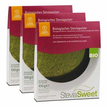 3 x SteviaSweet Bio, Pulver