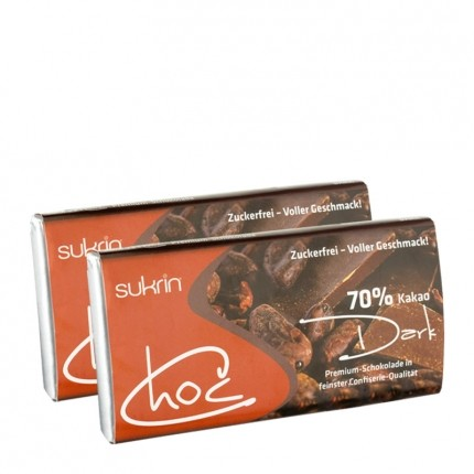 2 x Sukrin Choc dark, Schokolade