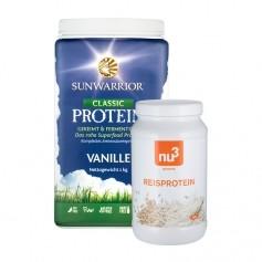 2 sorters vegansk protein - Sunwarrior och nu3