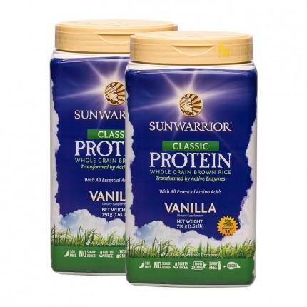 Sunwarrior Risprotein Vanilje, pulver